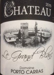 Le Grand Blanc, chateau porto carras